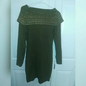 Say What? Green Sweater Dress